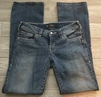 Women's Silver Aiko Boot Cut Stretch Denim Blue Jeans Size 27