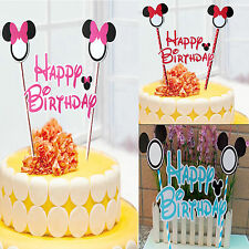 Mouse Style Happy Birthday Cake Topper Decoration for Birthday Party UK seller