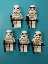 Lego Star Wars Minifigures Lot of 5 Stormtrooper SW188 10188 10212 w/blasters!