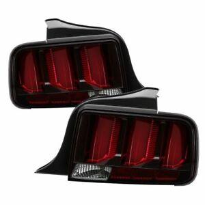 Spyder 5086716 LED Tail Lights; Black; Red Light Bar For 05-09 Ford Mustang NEW