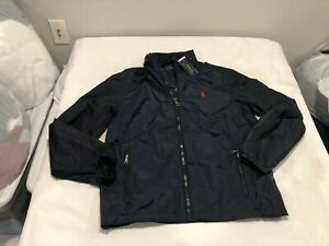 NWT $149.99 Polo Ralph Lauren Mens Retford Windbreaker Jacket Navy Blue MEDIUM