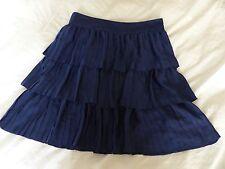 Beautiful Reiss UK 14 sapphire blue Cody pleated layered skirt RRP £110 BNWT