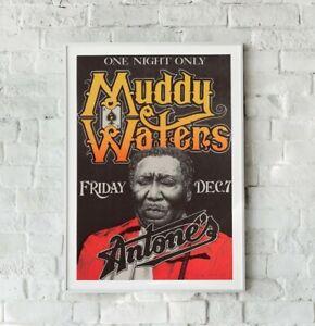 Muddy Waters Print, Muddy Waters Gig Poster, Vintage Music Poster