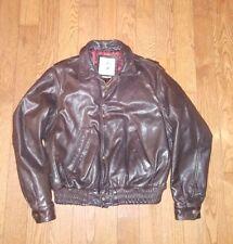 Vtg  80's Banana Republic Brown Leather Bomber Flight Jacket Mens Size 38