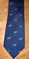 Harvie & Hudson-Londres elegante (Azul/Azul Claro Corbata Seda Tejido de sarga de perros)