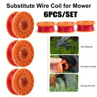 6×Trimmer Spools Replacement For Worx Select Electric Weed Eater String Trimmers