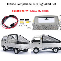 For WPL D12 RC Truck DIY Parts 1* Simulated Side Lampshade Turn Signal Light Kit