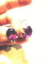 Lab Made Color Change Alexandrite Vintage 925 Sterling Silver Earrings
