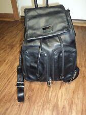Perlina New York  Black Leather Padlock Mini Backpack, Vintage, Good Condition