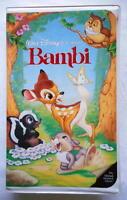 Rare 1989 Bambi Black Diamond Edition The Classics Collection VHS Tape
