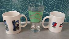 2 Mugs + 1 verre / publicitaire Huile automobile Elf