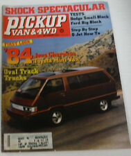 Pickup Van & 4WD Magazine '84 Jeep Cherokee September 1983 080614R