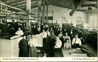 "Antique Postcard  ALEXANDRIA Indiana  ""INTERIOR ALEXANDRIA PAPER MILL""  WORKERS"
