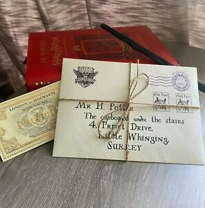 Harry Potter Personalised Hogwarts Acceptance Letter Real Wax Seal Gift Idea