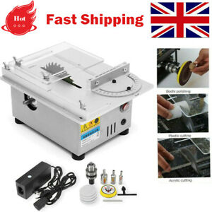 DIY Mini Precision Table Saw Electric Woodworking Bench Polisher Grinder Cutting