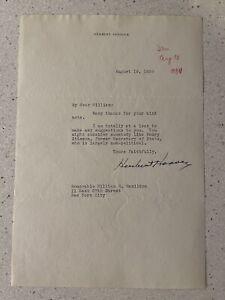 President Herbert Hoover Signed Letter Authentic Autograph PSA LOA
