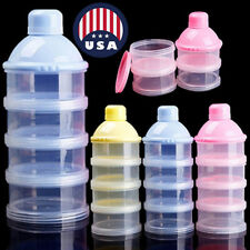 4 Layers Baby Milk Powder Dispenser Infant Food Storage Container USA