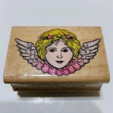 Hero Art Wood Rubber Stamp Angel Face C870