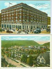 Cumberland MD Collector's Set: Fort Cumberland Hotel & West Side Bird's Eye View