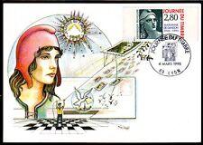 FRANCE FDC - 1995 5 JOURNEE DU TIMBRE - 2934 - LYON -SUR CARTE POSTALE