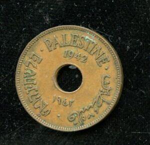 PALESTINE 1942  10 MILS COPPER COIN YOU DO THE GRADING HAVE FUN BIDDING