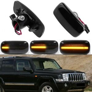 For Jeep Patriot Compass Grand Cherokee Dynamic Smoke Lens LED Side Marker Light
