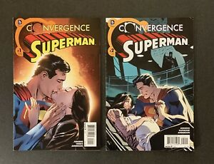 CONVERGENCE SUPERMAN #1 & 2 DC COMICS (2015) 1st Jon Kent VF