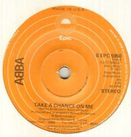 "ABBA Take A Chance On Me 7"" Usa Pressing On Epic Label, B/W I'm A Marionette, S"