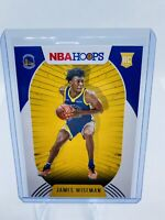 2020-21 Panini NBA Hoops James Wiseman RC Rookie Base Warriors #205 RARE NM PSA