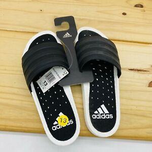 NEW sz 13 Adidas Adilette Boost Slides Core Black White Mens EG1910