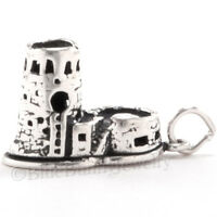 WATCH TOWER GRAND CANYON Charm Pendant Arizona Travel STERLING SILVER 3D 925