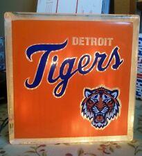 Lighted Detroit Tigers  Glass Block Light~ Home Decor~Gift~Lamp