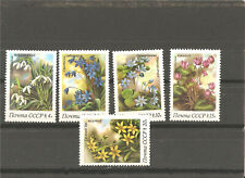 5 MNH stamps (serie) with any flowers,1983 year
