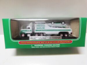Hess Miniature Trucks -- 2001  Racer Transport