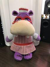 "Disney Doc McStuffins Cuddles & Hugs Talking Hallie Hippo Plush 15"" Toy"