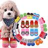 4pcs Lovely Knits Pet Dogs Socks Anti Slip Skid Bottom Puppy Socks For Dogs Cats