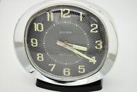 Vintage Big Ben Westclox Wind Up Alarm Clock Glow In The Dark w/ Black Base