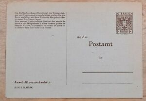 MayfairStamps Austria 12 Groschen Coat of Arms Mint Stationery Card wwo80585