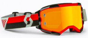 Scott - Fury Goggle Red/Black Orange Chrome Works Lens MTB Dirt MX Moto