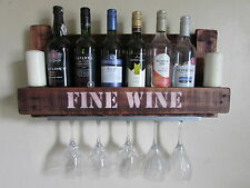 Wine Rack Mini Bar -, Rustic,Reclaimed Wood,Hand Crafted,Shabby Chic, Unique