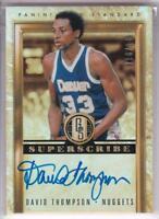 2011-12 Panini Gold Standard Superscribe Signatures #/149 David Thompson Auto