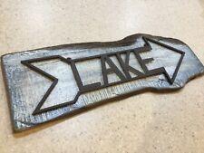 LAKE Wood & Metal Sign Plaque