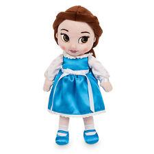"Disney Store Animators 13"" Princess Belle Plush Toddler Doll Beauty & the Beast"