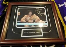 Jimmy Super Fly Snuka Framed And Matted Autographed Color Photo.coa