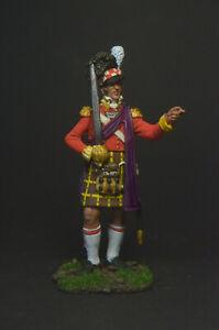 """Tin soldier figure Officer of the 42nd Royal Scottish Regiment """"Blackguard"""" 54mm"""