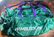 Vtg XL Wimbledon The Championships Tennis Duffel Travel Sports Shoulder Bag gym