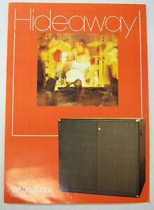 Vintage 1970s Jukebox Advertising Brochure Hideaway By Wurlitzer 052412R