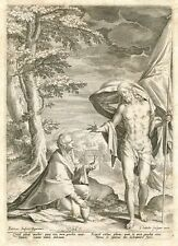 ANTIQUE DUTCH ENGRAVING JOHAN SADELER RELIGIOUS SPIRITUAL FINE ART EUROPEAN