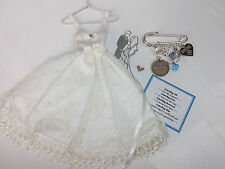 BRIDE SOMETHING OLD NEW BORROWED BLUE GUARDIAN ANGEL LUCKY SIXPENCE WEDDING GIFT