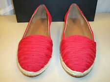 Tahari New Womens Caitlin Red Slip On Flats 6.5 M Shoes